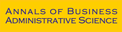 Annals of Business Administrative Science